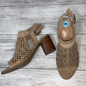 Franco Sarto Tan Leather Sandal Size 6M NWOT